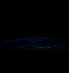 wireframe landscape geometric background vector image