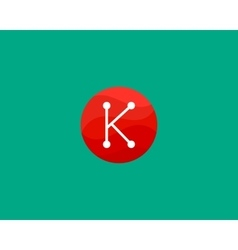 Abstract letter K logo design template Dot line vector image vector image