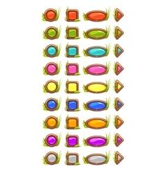 Cartoon buttons vector image vector image