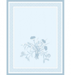 field flowers vector image