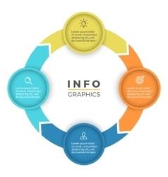 Four steps infographics design element vector image vector image