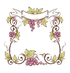 frame from grapes vector image vector image
