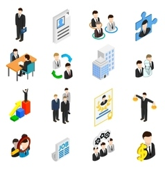 Human resources icons set vector image