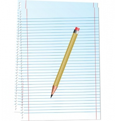illustration notepad with pencil vector image vector image