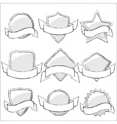 labels collection sketch vector image vector image