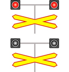 Railway crossing traffic light vector image