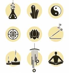 spirituality icon set vector image