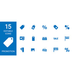 15 promotion icons vector