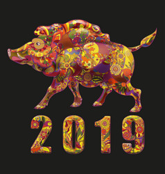 2019 chineese year symbol vector image