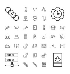 37 system icons vector