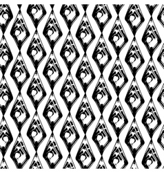 abstract black and white grunge seamless pattern vector image