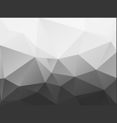 Abstract black and white polygonal pattern vector