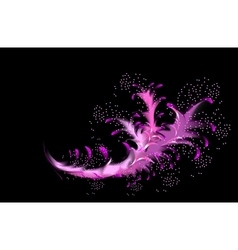 Abstract fractal resembling a pink coral vector image