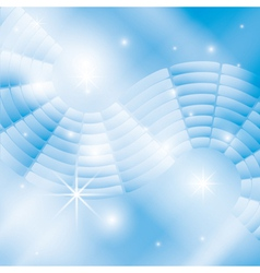 abstract light blue background with stars vector image vector image