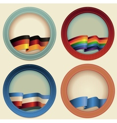 Abstract round frames with flags vector