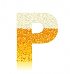 alphabet beer p vector image