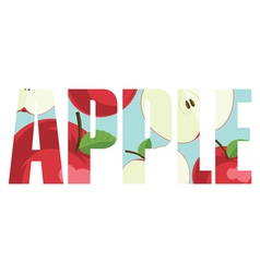 Apple sign vector image