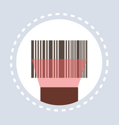 barcode scanning equipment shopping icon concept vector image