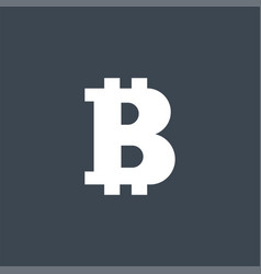 bitcoin related glyph icon vector image
