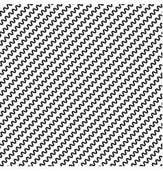 Black diagonal lines seamless pattern wavy zigzag vector