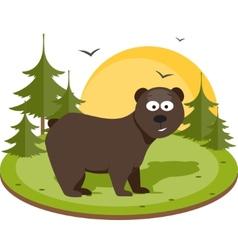 Brown bear Flat vector image
