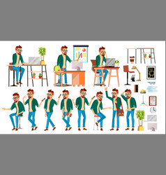 business man character hipster working vector image