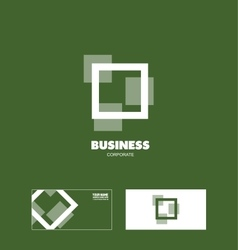 Business square corporate logo vector image