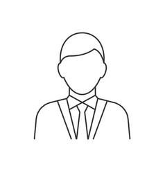 businessman avatar line icon on white background vector image