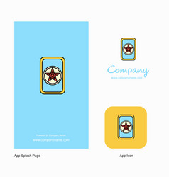 card game company logo app icon and splash page vector image