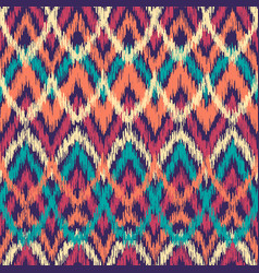 colorful seamless ikat ethnic pattern zigzag vector image