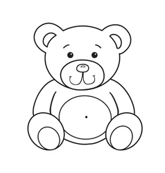 Cute teddy bear vector