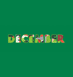 december concept word art vector image