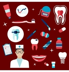 Dentistry hygiene icons and symbols vector
