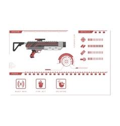 Details of gun grenade Game perks vector image
