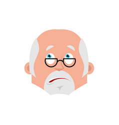 doctor bewildered emotion avatar physician at a vector image