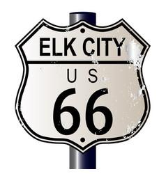 Elk city route 66 sign vector