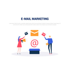 email marketing - flat design style colorful web vector image