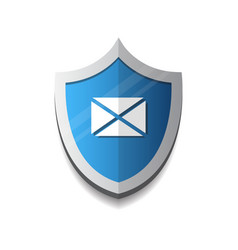 email protection envelope on shield icon security vector image