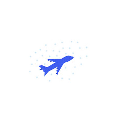 flight snowfall color icon element of christmas vector image