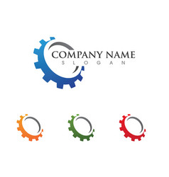 Gear logo template icon design vector