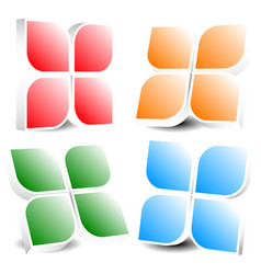 generic icon design element in four colors vector image