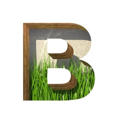 Grass cutted figure b Paste to any background vector