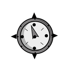 grayscale compass object to travel in map vector image