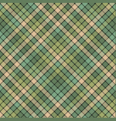green mosaic fabric texture plaid seamless pattern vector image