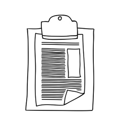 Hand drawing with table notepad with sheets vector