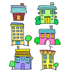 House colorful set vector