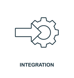 Integration line icon simple element from digital vector