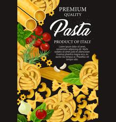 Italian pasta premium homemade food menu vector