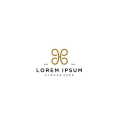 Letter h luxury logo design concept vector