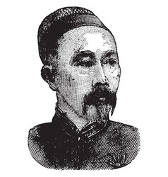 Li hongzhang vintage vector